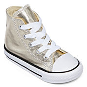 Converse® Chuck Taylor All Star Metallic Girls High-Top Sneakers - Toddler