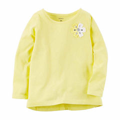 Carter's Long Sleeve T-Shirt-Toddler Girls