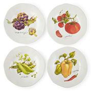 JCPenney Home™ Veggies Set of 4 Dinner Plates