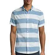 Arizona Stripe Poplin Button-Front Shirt