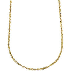 "10K Yellow Gold Hollow 24"" Rope Chain"