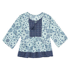 Arizona 3/4 Sleeve Boho Printed Woven Top - Girls' 7-16 and Plus (copy)
