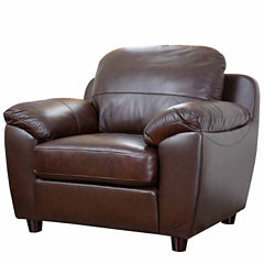 Aria Leather Pad-Arm Chair