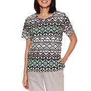 Alfred Dunner Geo Stripe T-Shirt