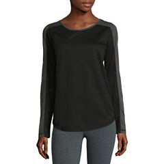 Xersion Long Sleeve Scoop Neck T-Shirt