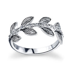 Womens White Crystal Band