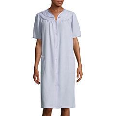 Adonna Short-Sleeve Duster Robe