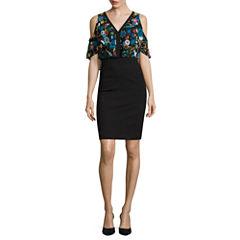Nicole By Nicole Miller Cold Shoulder Blouson Dress