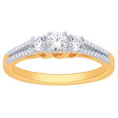 Love Lives Forever Womens 1 CT. T.W. White Diamond 14K Gold Bridal Set