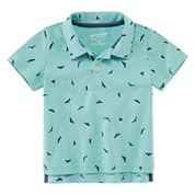 Arizona Short Sleeve Solid Cotton Polo Shirt - Baby Boys