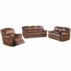 Alexander Faux Leather Sofa + Loveseat Set