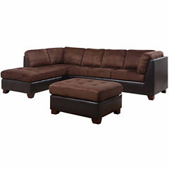 Faux leather sectionals sofas for the home jcpenney for Jcpenney leather sectional sofa