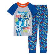 Disney Boys Long Sleeve Cars Pant Pajama Set-Big Kid