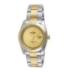 Peugeot® Womens Two-Tone Stainless Steel Bracelet Watch