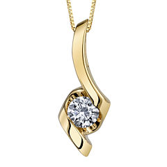 Sirena® 1/5 CT. Diamond 14K Yellow Gold Pendant Ribbon Necklace