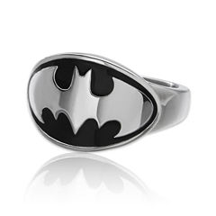 DC Comics® Stainless Steel Batman Ring