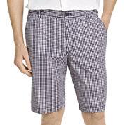 IZOD® Mini-Plaid Poplin Shorts