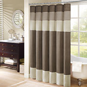 Madison Park Amherst Pleated Shower Curtain