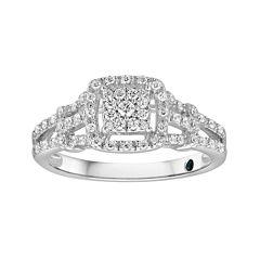 I Said Yes™ 1/3 CT. T.W. Diamond Engagement Ring
