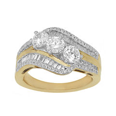 Love Lives Forever™ 1 1/2 CT. T.W. Diamond 10K Yellow Gold Bypass Ring