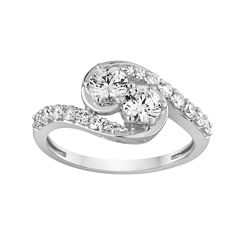 Two Forever™ 1 CT. T.W. Diamond 14K White Gold Ring