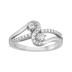 tw diamond 10k white gold ring - Jcpenney Jewelry Wedding Rings