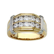 Mens 1 CT. T.W. Diamond Two-Tone Ring