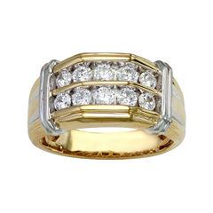 Mens 1 CT. T.W. Diamond Two-Tone Ring