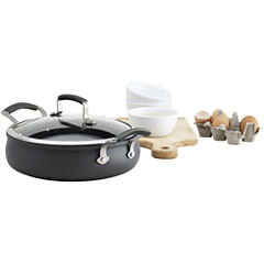 Epicurious® 4-qt. Hard-Anodized Sauteuse with Lid
