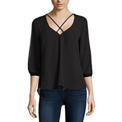 Decree Slit Sleeve Top -Juniors