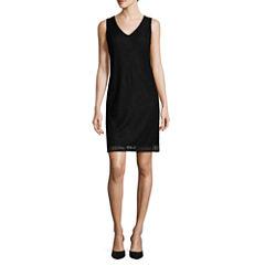 Liz Claiborne Sleeveless V Neck Lace Dress