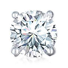 1/10 CT. Single Round Diamond Stud Earring 10K White Gold