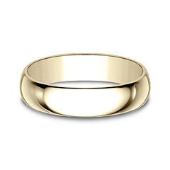 Mens 5mm 10K Yellow Gold Wedding Band