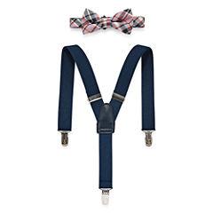 Wembley Plaid Bow Tie and Suspender Set - Boys