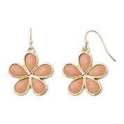 Liz Claiborne® Peach Gold-Tone Drop Earrings