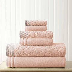 Pacific Coast Textiles Jacquard Solid 6-pc. Bath Towel Set