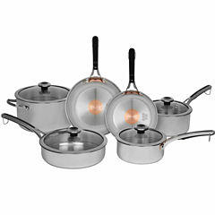 Revere Copper Confidence Core 10-pc. Stainless Steel Dishwasher Safe Cookware Set