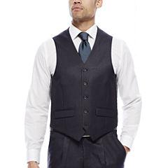 Steve Harvey® Charcoal Check Suit Vest