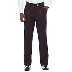 Steve Harvey® Merlot Pleated Pants