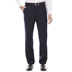 Steve Harvey® Navy Striped Pleated Suit Pants
