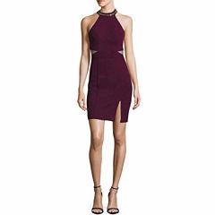 My Michelle Sleeveless Sequin Bodycon Dress-Juniors