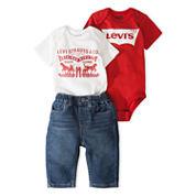Levi's Boys 3-pc. Bodysuit Set-Baby