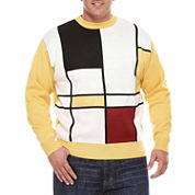 Steve Harvey Crew Neck Long Sleeve Knit Cardigan Big and Tall