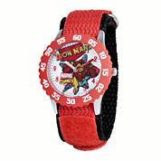 Marvel® Iron Man Kids Red Nylon Strap Watch