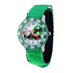Disney Cars Kids Green Nylon Strap Watch