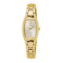 Seiko® Womens Solar Gold-Tone Bracelet Watch
