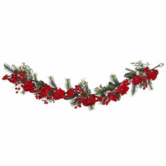Nearly Natural 60in Cedar Christmas Garland