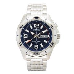 Casio Mens Silver Tone Strap Watch-Mtd1082d-2avcf