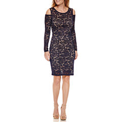 Onyx Nites Long Sleeve Sheath Dress