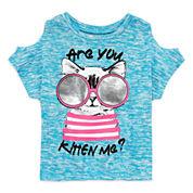 Total Girl 0 Crew Neck Short Sleeve Blouse - Preschool